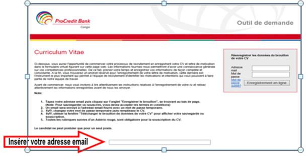 www.procreditbank.cd modele cv Comment postuler || ProCredit Bank Congo www.procreditbank.cd modele cv